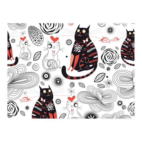 Fototapet Cats In Love 200 cm x 154 cm naturlich.ro