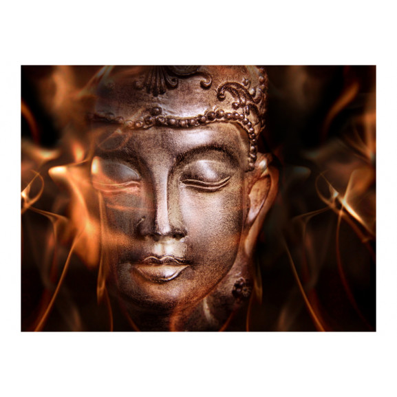 Fototapet Buddha. Fire Of Meditation. 200 cm x 154 cm naturlich.ro