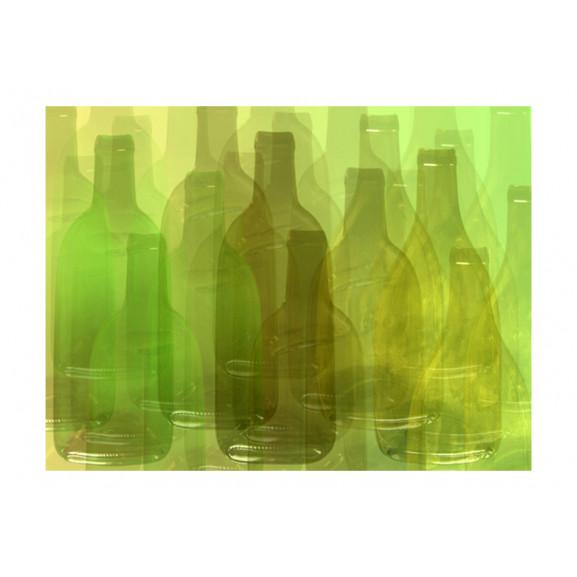 Fototapet Green Bottles 200 cm x 154 cm naturlich.ro
