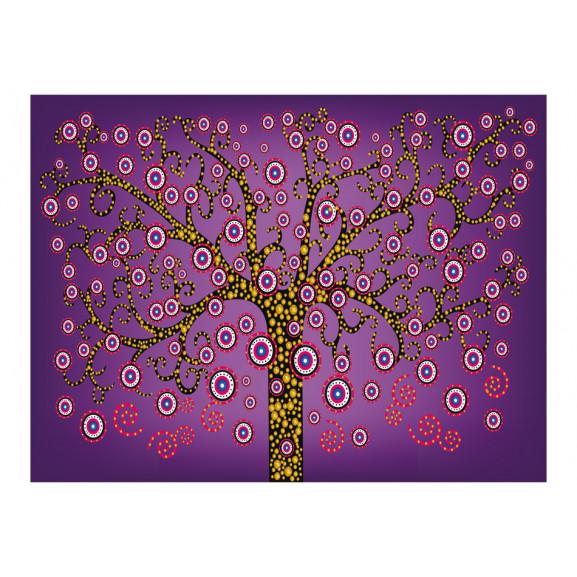 Fototapet Abstract: Tree (Violet) 200 cm x 154 cm naturlich.ro
