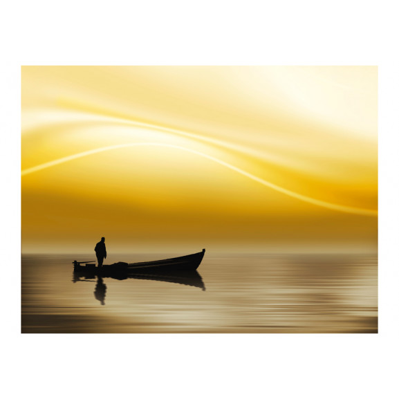 Fototapet Fishing At Sunset 200 cm x 154 cm naturlich.ro