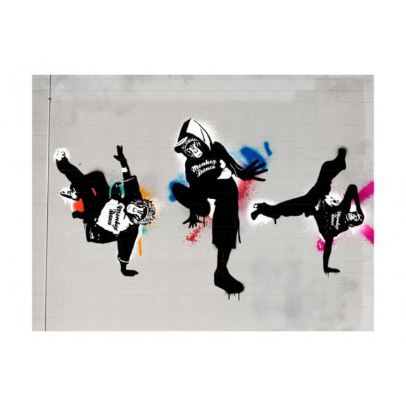 Fototapet Monkey Dance Street Art 200 cm x 154 cm naturlich.ro