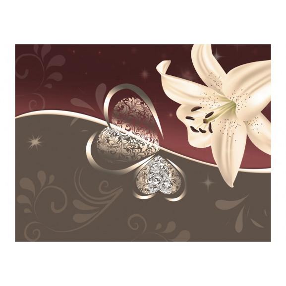 Fototapet Cream Lily 200 cm x 154 cm naturlich.ro