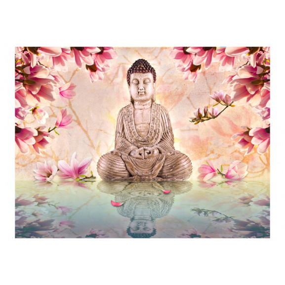 Fototapet Buddha And Magnolia 200 cm x 154 cm naturlich.ro