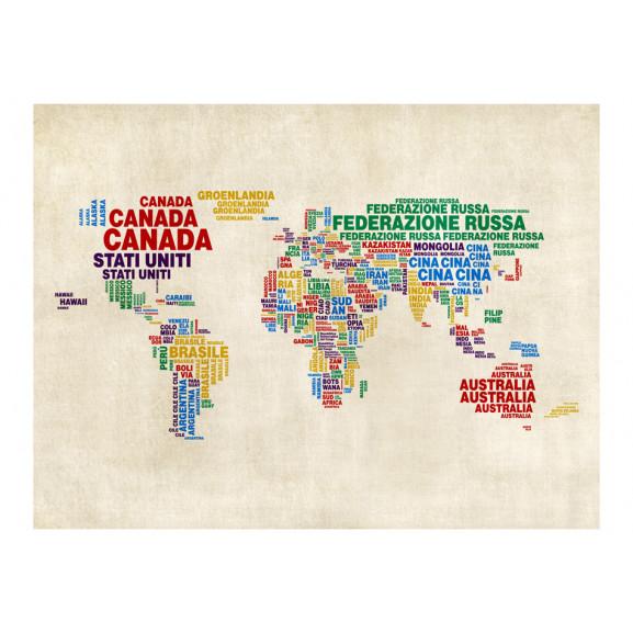 Fototapet Map (Italian) 200 cm x 154 cm naturlich.ro