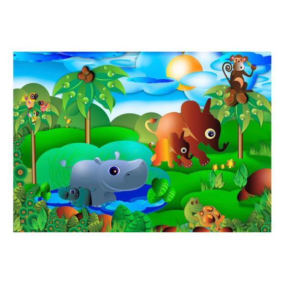 Fototapet Animal Family 100 cm x 70 cm naturlich.ro