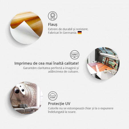 Fototapet Berlin Collage (Orange) 100 cm x 70 cm-01