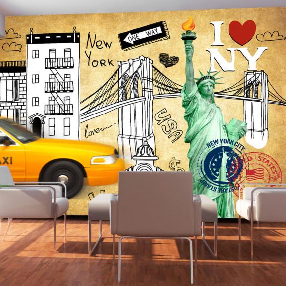 Fototapet One Way New York 100 cm x...