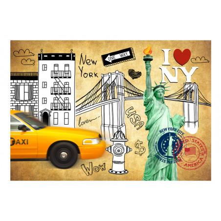 Fototapet One Way New York 100 cm x 70 cm-01