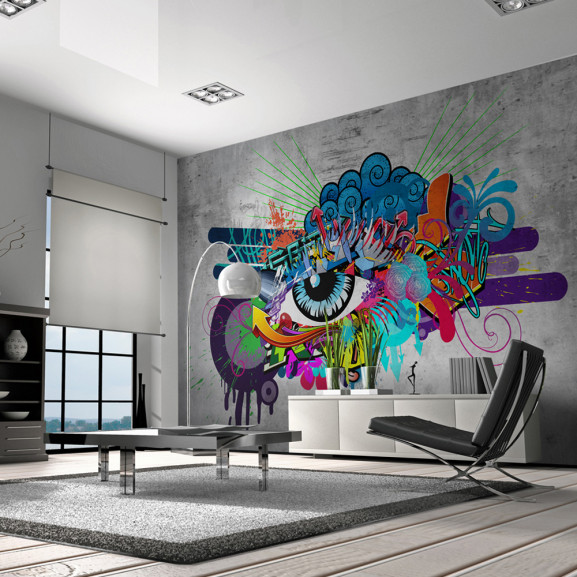 Fototapet Graffiti Eye 100 cm x 70 cm