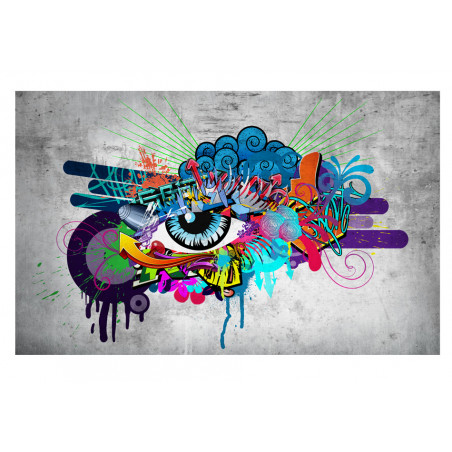 Fototapet Graffiti Eye 100 cm x 70 cm-01