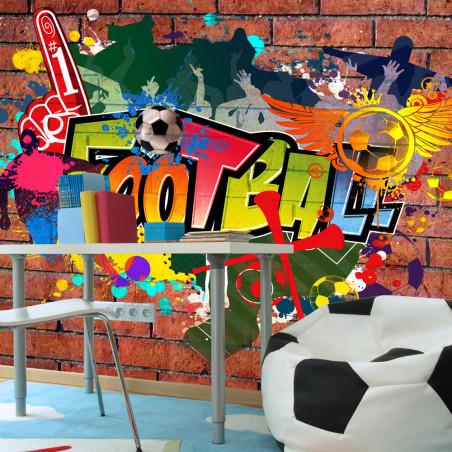 Fototapet Football Fans! 100 cm x 70 cm-01