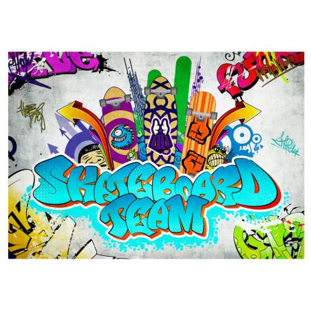 Fototapet Skateboard Team 100 cm x 70 cm-01