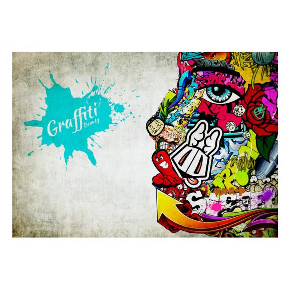 Fototapet Graffiti Beauty 100 cm x 70 cm naturlich.ro