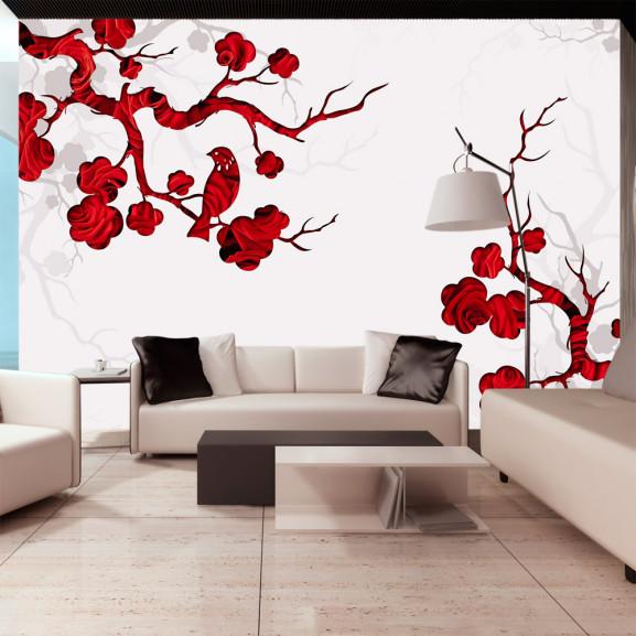 Fototapet Red Bush 100 cm x 70 cm