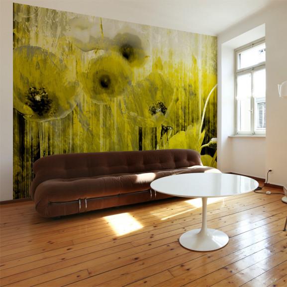 Fototapet Yellow Madness 100 cm x 70 cm