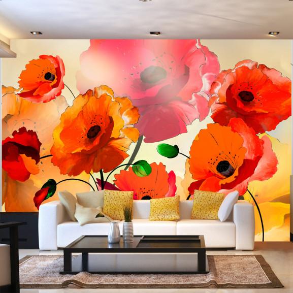 Fototapet Velvet Poppies 100 cm x 70 cm