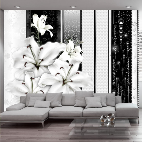 Fototapet Crying Lilies In White 100...