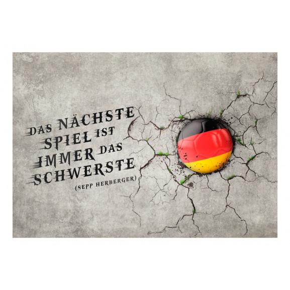 Fototapet Das Nächste Spiel Ist Immer Das Schwerste (Sepp Herberger) 100 cm x 70 cm naturlich.ro