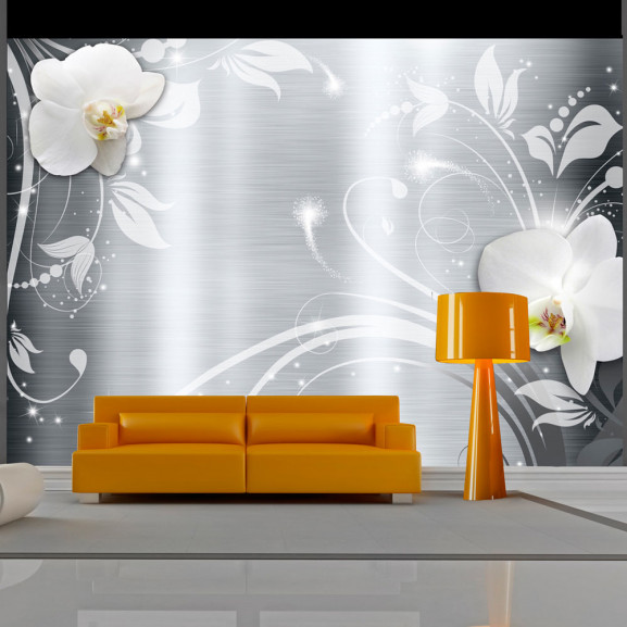 Fototapet Orchids On Steel 100 cm x...