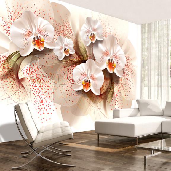 Fototapet Pale Yellow Orchids 100 cm...