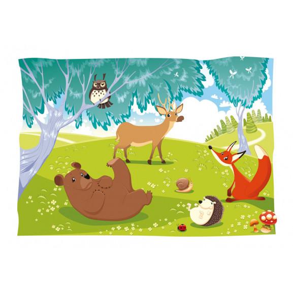 Fototapet Funny Animals 100 cm x 70 cm naturlich.ro