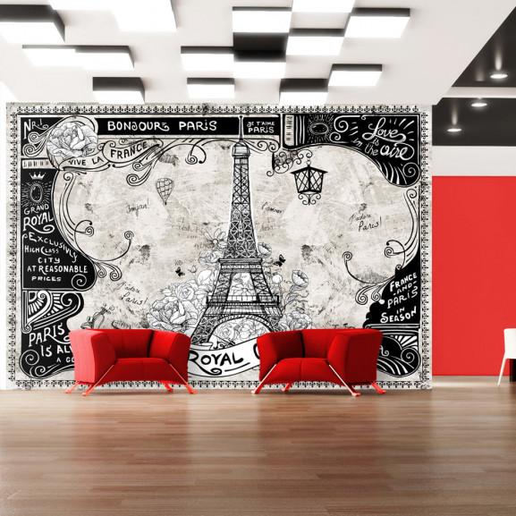 Fototapet Bonjour Paris 100 cm x 70 cm