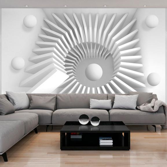 Fototapet White Jigsaw 100 cm x 70 cm