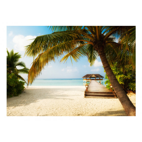 Fototapet Paradise Beach 100 cm x 70 cm naturlich.ro