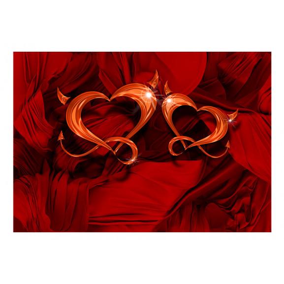 Fototapet Two Hearts 100 cm x 70 cm naturlich.ro