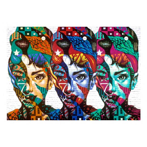 Fototapet Colorful Faces 100 cm x 70 cm naturlich.ro