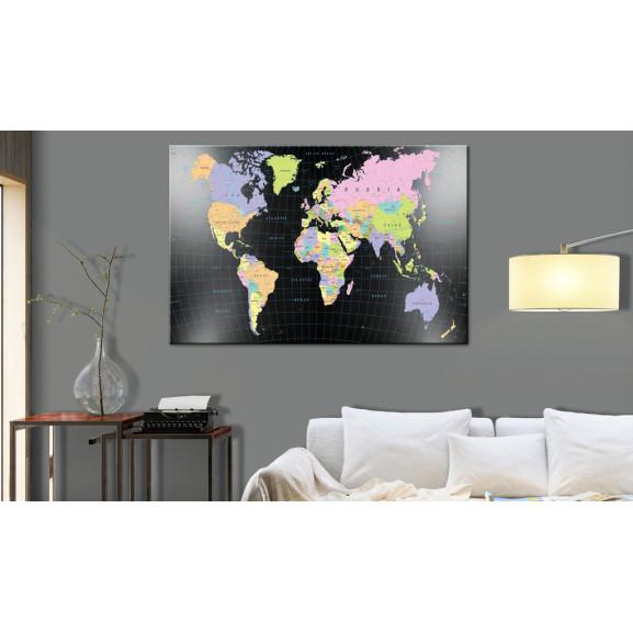Tablou Din Plută Human'S Kingdom [Cork Map] 120 cm x 80 cm naturlich.ro