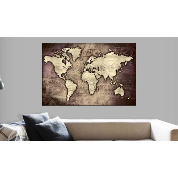 Tablou Din Plută Precious World [Cork Map] 120 cm x 80 cm naturlich.ro