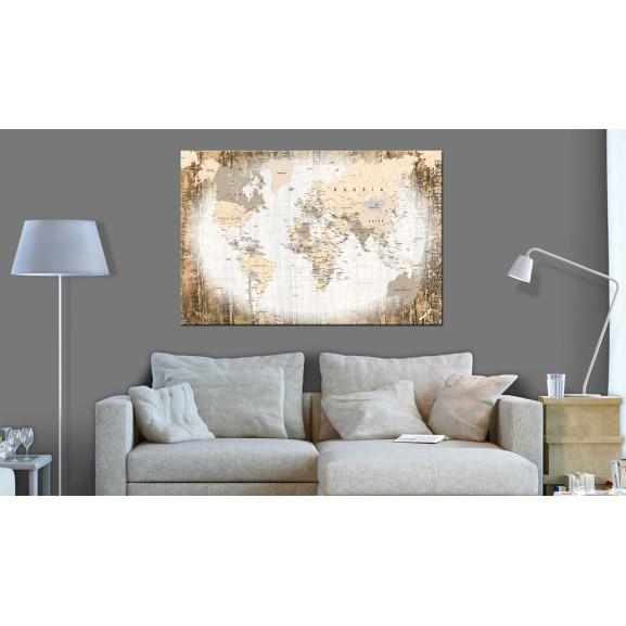 Tablou Din Plută Enclave Of The World [Cork Map] 120 cm x 80 cm naturlich.ro
